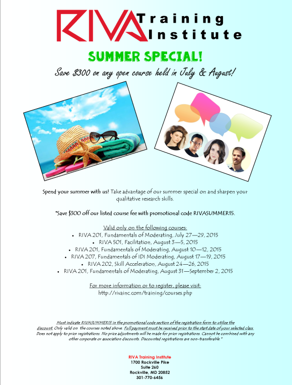 Take advantage of our summer special today!